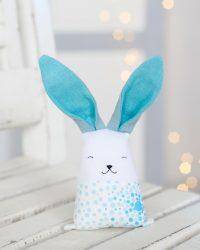 Blue linen bunny rabbit
