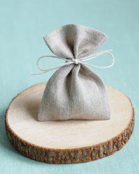 Natūralaus lino dovanų maišelis tiks supakuoti smulkias dovanėles